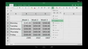 Excel For Android Tablet Getting Started