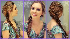 elsa from frozen inspired hair makeup dress get ready with me for winter formal you