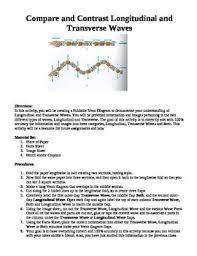 transverse and longitudinal waves venn diagram compare and contrast longitudinal and transverse waves