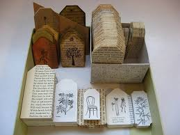 we really liked this cool idea from vakuoli who takes old books and dictionaries salvaged from recycling and turns them into book marks and s
