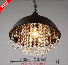 rustic industrial crystal pendant light loft vintage chandelier ceiling lamp ek