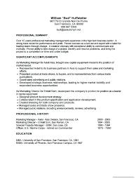 resume for job sample