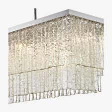 large two tier rectangular chandelier