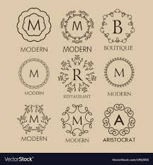 Simple Elegant Design Set Of Simple And Elegant Monogram Designs