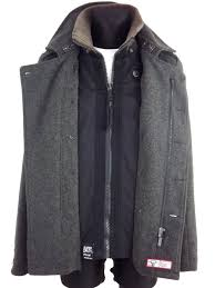 superdry peacoat jpn navy label classic p coat wool blend jacket grey vgc mens grey