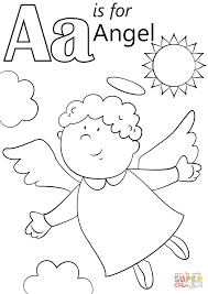 Small Picture Letter A is for Angel coloring page Free Printable Coloring Pages