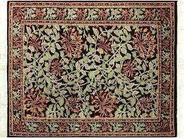 william morris rugs flora black green area rug craftsman by designer john lewis