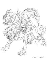 Three Headed Dog Coloring Pages