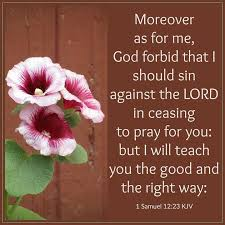Image result for 1 Samuel 12:23
