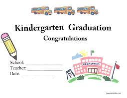 Sample Certificate For Graduation Copy Kindergarten Graduation ...