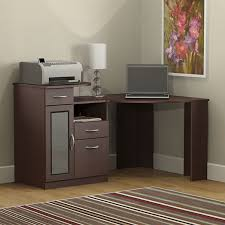 com bush furniture vantage corner desk harvest cherry kitchen dining