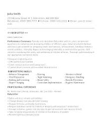 How To Put Babysitting On A Resume Simple Babysitter Cover Letter Nanny Resume Sample Download Professional