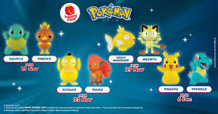 mcdonald s pokemon happy meal toys are now available new toys every week till 12 december 2018