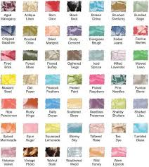 Tim Holtz Distress Mini Ink Pad Color Chart Tim Holtz