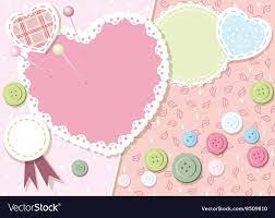 Cute love heart background Royalty Free ...