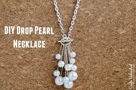 drop diy pearl necklace tutorial