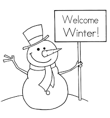 Small Picture Mr Snowman Says Happy Winter Coloring Page Free Printable