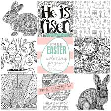 Free Easter Coloring Book Pages Printable Coloring Page For Kids