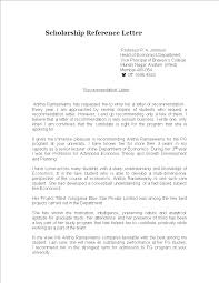 Scholarship Reference Letter From Professor Templates At