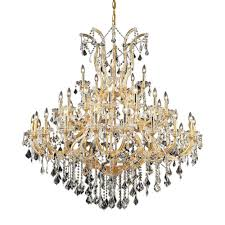 elegant lighting 41 light gold chandelier with clear crystal