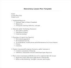 Lesson Plans Formats Elementary Lesson Plan Format In Ms Word Outline Template Edtpa Example