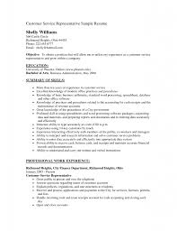 Customer Service Experience Examples For Resume Cover Letter Customer Service Sample Resume Objective With Greet 36
