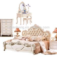white bedroom furniture king. Exellent Furniture Classical White Royal Luxury European Style 4 Piece Wedding King Queen Size Bedroom  Furniture Set In
