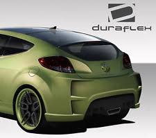 hyundai veloster 2015 custom. duraflex vgr rear bumper 1 piece body kit fits 20122015 veloster hyundai 2015 custom