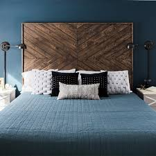 Custom Chevron Headboard.