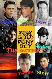 the outsiders characters ponyboy sodapop darry johnny steve dallas