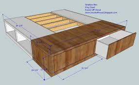 King Size Platform Bed Plans With Drawers Midl Furniture