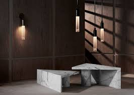apparatus lighting. apparatus extends furniture and lighting collection with marble brass pieces