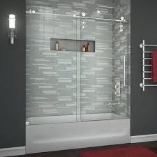 enigma z to sliding tub door clear 3 8 frameless doors bathtub shower glass contemporary
