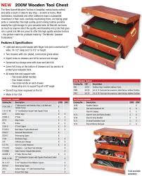 danachrist teknindo 200w wooden tool chest