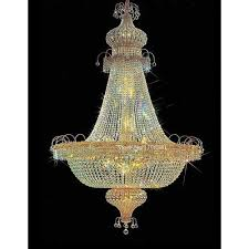 hanging candle style crystal chandelier