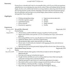 Resume For Nanny Adorable Nanny Resumes Nanny Responsibilities On Resume Nanny Duties And