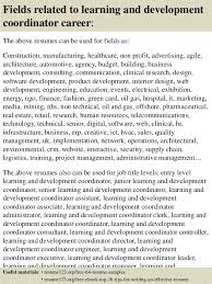 Top 8 Learning And Development Coordinator Resume Samples