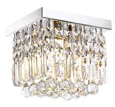 moooni hallway crystal chandelier 1 light w8 mini modern square flush mount ceiling light fixture