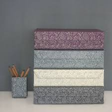 Box Files Decorative recycled paisley a60 storage box file by heart parcel 16