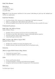 Sample Resume For Banking Jobs Resume Bank Teller Resumes For Bank