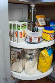 does your cabinet lazy susan got you spinning see how easy organizing the corner lazy