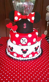 8 Red And Black Minnie Mouse Birthday Cakes Photo Red Minnie Mouse