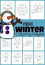 We've got all the typical winter scenes to color including kids sledding, making snowmen, having snowball fights, ice. Free Winter Coloring Pages