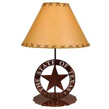 Table lamps lighting Silver Lone Star Western Decor Rustic Lamps Texas Star Table Lamp