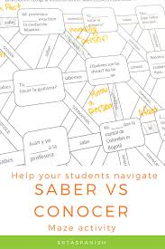 Check Out This Great Activity To Practice Saber And Conocer