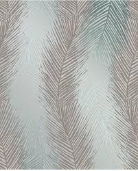 Bolcom Essence Leaf Wave Grijsgroen Behang Vliesbehang Grijs