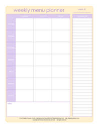weekly menue planner menu planning save time in the kitchen organized home