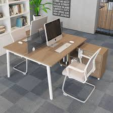 office desks for two people. Modern Furniture Two-Person Office Desk With Drawer For Workstation Desks Two People