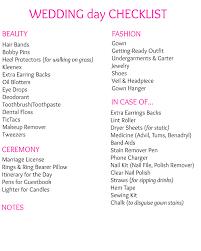 Checklist For Wedding Day Your Ultimate Wedding Day Checklist