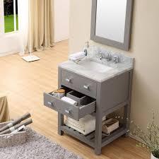 24 in bathroom vanity. Cadale 24 Inch Gay Finish Single Sink Bathroom Vanity In